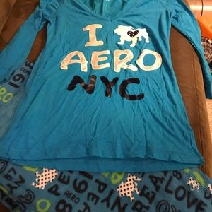 Women's 3/4 sleeve aero pjs